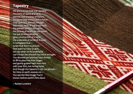 Tapestry Rachel Lunsford Poetry